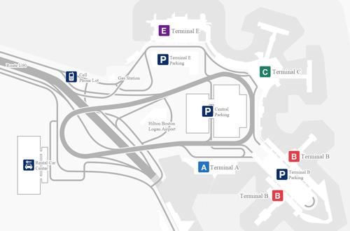Logan airport terminals plan